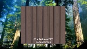 20 x 145 mm BPC Terrassendiele schokobraun