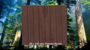 25 x 130 mm Thermo Esche Terrassendiele