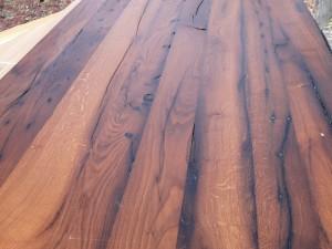orig. hist. Eichenaltholz Tischplatte 2