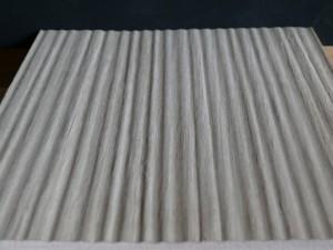 furnierte Prägeplatte - fühlbare Struktur 2